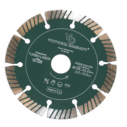 Профессиональный алмазный сегментный отрезной круг Super Professional Turbo-Laser, D125