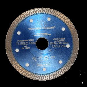 Профессиональный алмазный отрезной круг TURBO RIM -blue (паутинка)