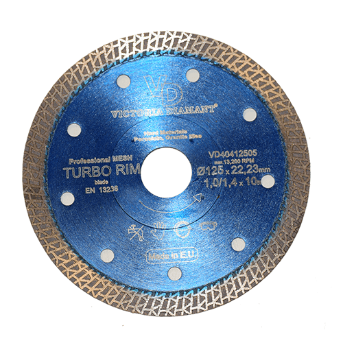 Алмазный круг паутинка TURBO RIM-blue 125 Victoria Diamant