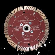 Профессиональный алмазный отрезной круг Turbo-Laser D125 с фланцем