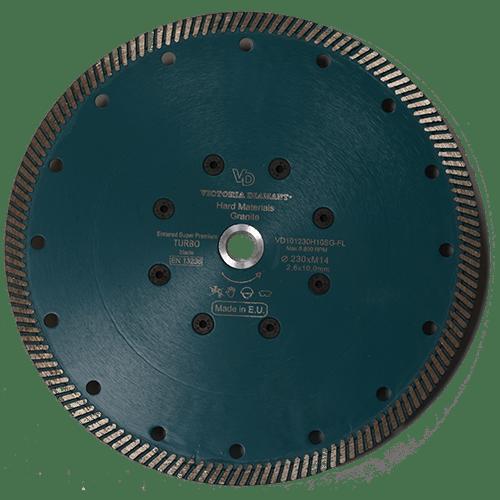 Профессиональный алмазный отрезной круг Turbo D230