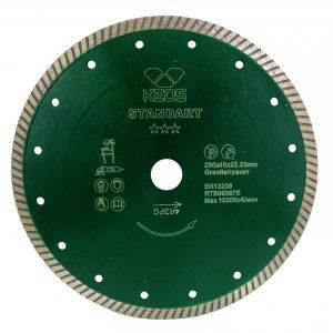 Турбированный алмазный диск KEOS Standart