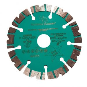 Алмазный диск по железобетону Premium V type LASER D125