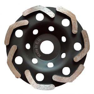 Алмазная шлифовальная чашка DRY ROTEX D125, Victoria Diamant - задняя сторона