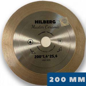 Алмазный диск Hilberg 200 мм, Master Ceramic, 45°