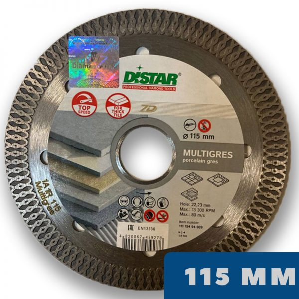 Алмазный диск MULTIGRES 7D 115 мм по керамограниту