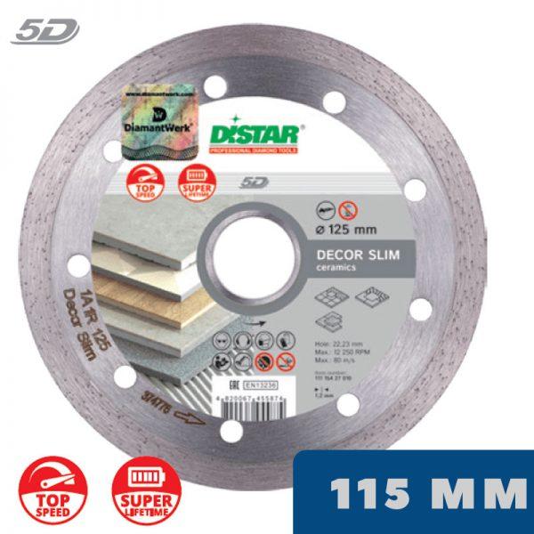Алмазный диск DECOR SLIM 5D 115 мм по керамограниту