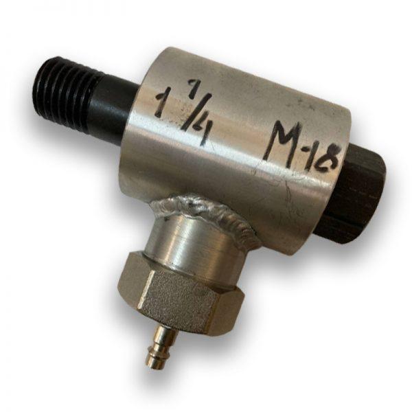 Адаптер сухого и мокрого сверления 1 1/4-M18 (Алюминий)